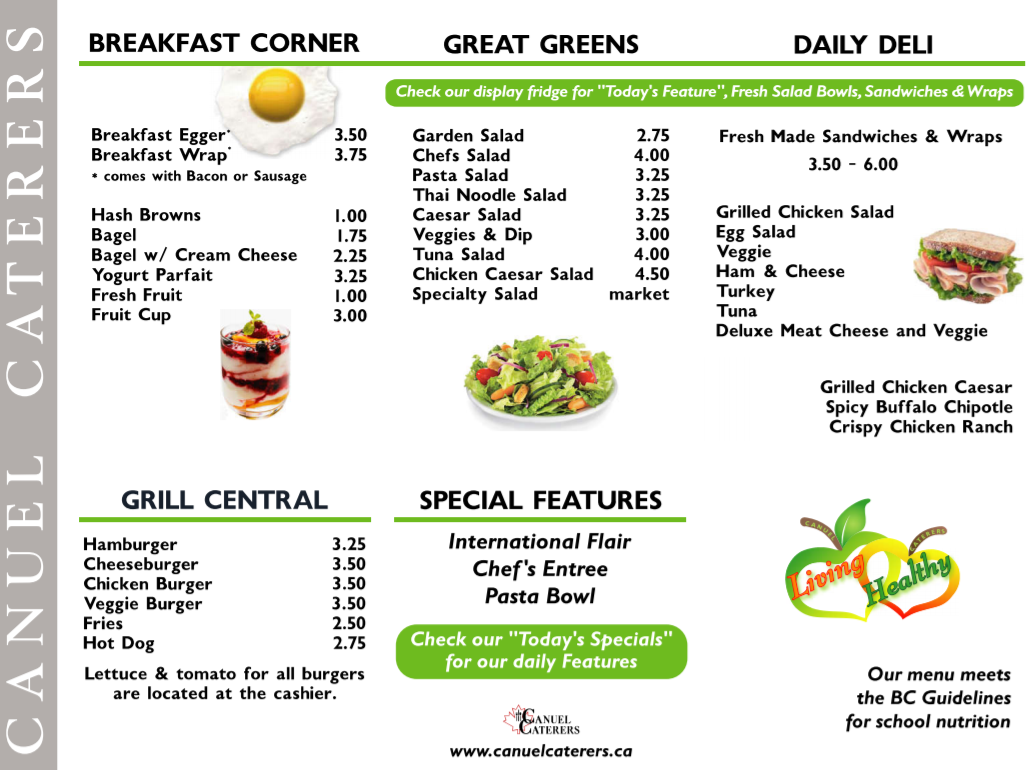 View our Cafeteria page